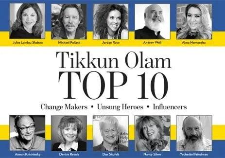 Ranked in Tikum Olam Top 10